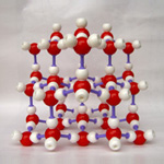 Crystal structure model ICE H20