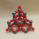 Crystal structure model Silicon Dioxide(SiO2) 