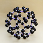 Crystal structure model Fullerene Carbon-60 C60