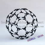 Crystal structure model Carbon Allotrope Carbon 60