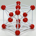 Crystal structure model Cu-Copper
