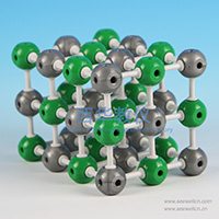 Crystal structure model Sodium Chloride(NaCl)