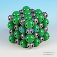 Ionic Crystal Structure model Sodium Chloride NaCl