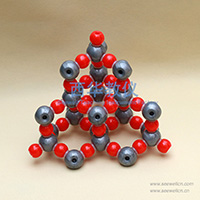 Covalent Crystal Model Silicon Dioxide(SiO2)