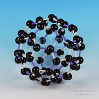 Crystal structure model Fullerene-Carbon-60-C60
